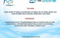 Lồng ghép kỹ năng chuyển đổi, kỹ năng số, kỹ năng sáng tạo, khởi nghiệp vào chương trình giáo dục nghề nghiệp