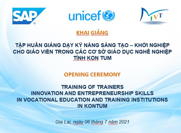 Thông báo tập huấn Giảng dạy Kỹ năng Sáng tạo – Khởi nghiệp cho Giáo viên, Giảng viên trong các cơ sở GDNN tỉnh Kon Tum