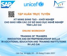 TẬP HUẤN TRỰC TUYẾN:  Kỹ năng Sáng tạo-khởi nghiệp cho giáo viên các cơ sở GDNN tỉnh Lào Cai